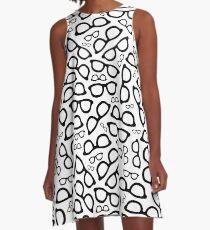 Smart Glasses Pattern A-Line Dress