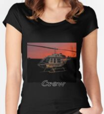 Air Evac Helicopter Women's Fitted Scoop T-Shirt