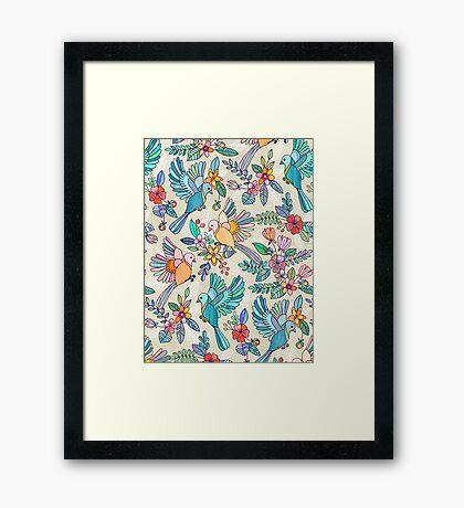 Whimsical Summer Flight Framed Print