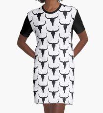 Longhorn Skull Graphic T-Shirt Dress