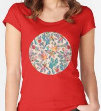Whimsical Summer Flight Women's Fitted Scoop T-Shirt