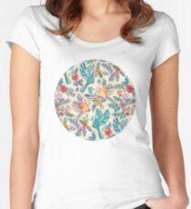 Camiseta entallada de cuello ancho Caprichoso vuelo de verano