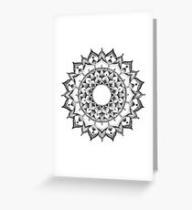 Tranquility Mandala Greeting Card