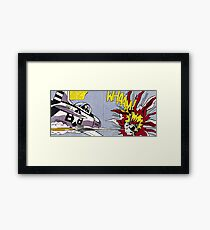 Whaam! - Roy Lichtenstein Print Framed Print