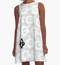 Black Sheep Pattern A-Line Dress