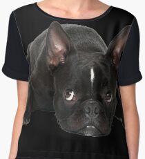 French bulldog Women's Chiffon Top