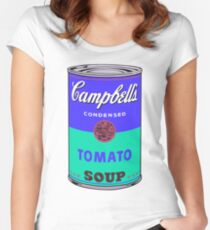 Campbell's Soup Can - Andy Warhol Print Women's Fitted Scoop T-Shirt