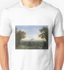 Jacob Philipp Hackert - Landscape With The Palace At Caserta With The Vesuvius Unisex T-Shirt
