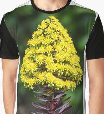 Purple aeonium in flower Graphic T-Shirt