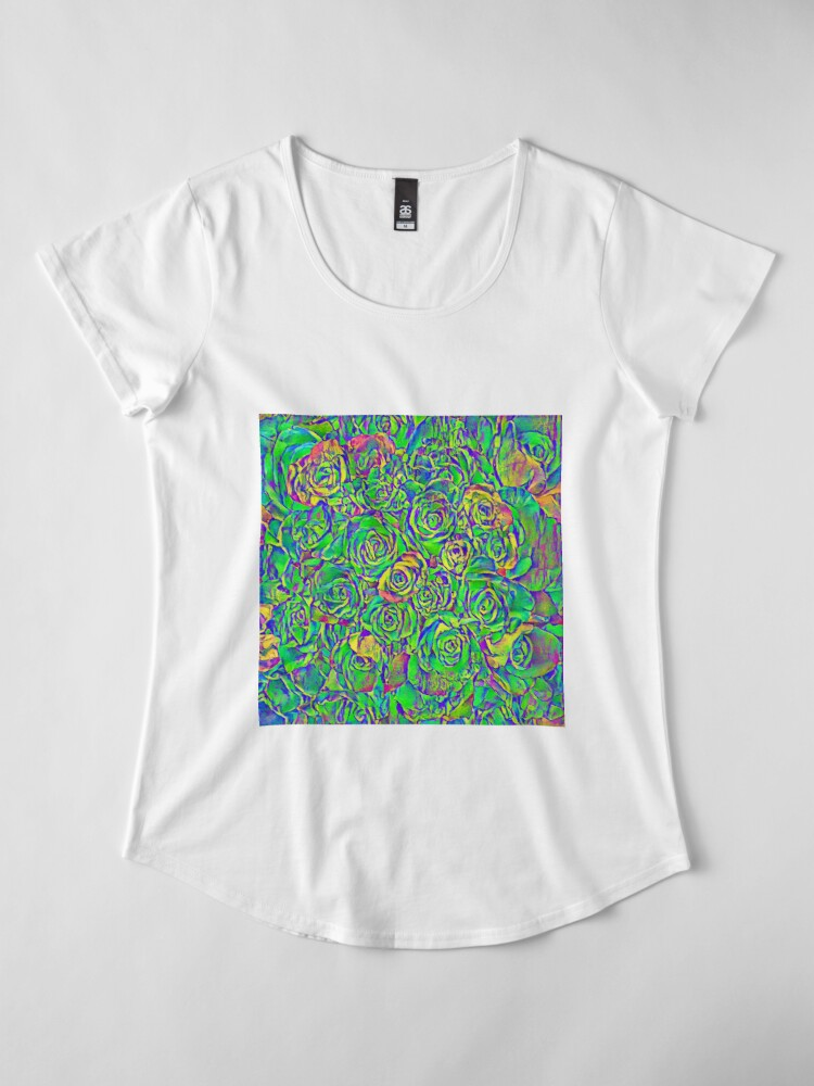 Alternate view of Roses Premium Scoop T-Shirt