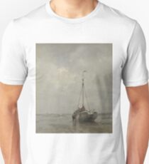 Jacob Maris - Bluff-Bowed Fishing Boat On The Beach At Scheveningen, 1885 Unisex T-Shirt