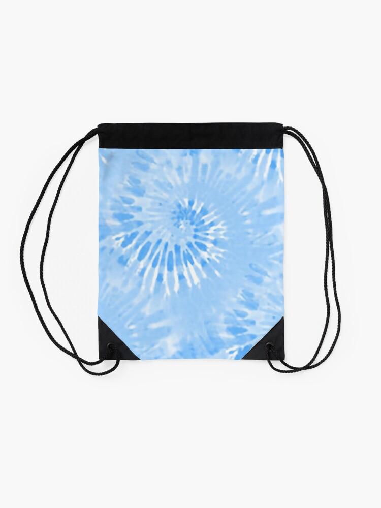 Alternate view of Tie Dye Blue hippy Drawstring Bag