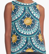 Blue Time Sleeveless Top