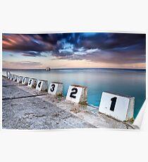 Merewether Ocean Baths - The Starting Blocks  Poster