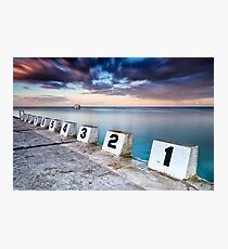 Merewether Ocean Baths - The Starting Blocks  Photographic Print