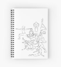 Yoga Asanas - drawing Spiral Notebook