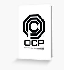 Robocop - OCP Omni Consumer Products Greeting Card