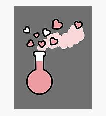 Pink Love Magic Potion in a Laboratory Flask Photographic Print
