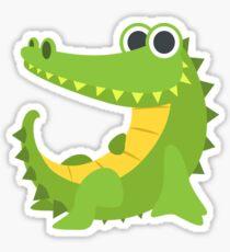 Cartoon Happy Crocodile Sticker