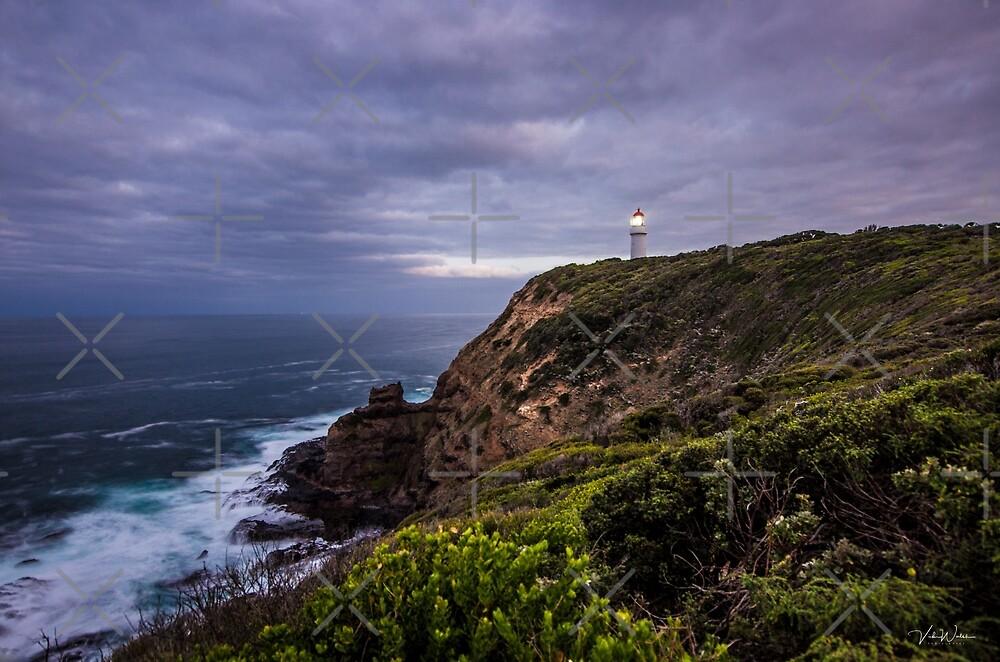 Cape Schanck Lighthouse, Cape Schanck, Mornington Peninsula, Victoria, Australia by Vicki Walsh