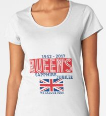 Queen's Sapphire Jubilee Women's Premium T-Shirt