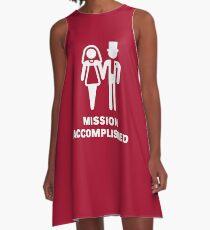 Mission Accomplished (Wedding / Marriage / White) A-Line Dress