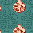 Hand draw pomegranate pattern  by kostochka