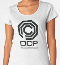 Robocop - OCP Omni Consumer Products Distressed Variant Women's Premium T-Shirt