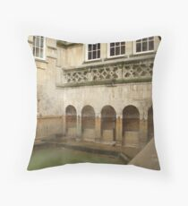 The green and warm waters of Bath Throw Pillow