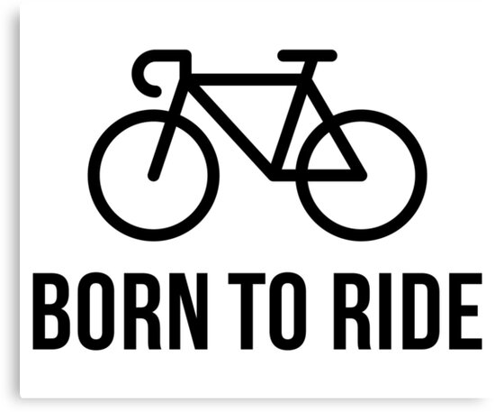 Born To Ride (Racing Bicycle / Bike / Black) by MrFaulbaum