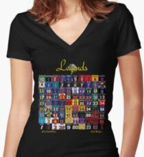 Basketball Legends Women's Fitted V-Neck T-Shirt