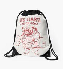 Go Hard or Go Home Drawstring Bag