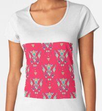 Vintage ethnic tribal aztec ornament  Women's Premium T-Shirt