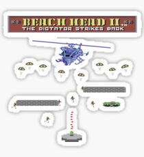 Gaming [C64] - Beach Head II (2) The Dictator Strikes Back Sticker