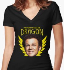 Step Brothers Dragon Women's Fitted V-Neck T-Shirt