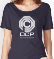 Robocop - OCP Omni Consumer Products White Distressed Variant Women's Relaxed Fit T-Shirt
