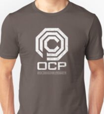 Robocop - OCP Omni Consumer Products White Distressed Variant Unisex T-Shirt