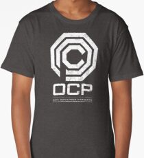 Robocop - OCP Omni Consumer Products White Distressed Variant Long T-Shirt
