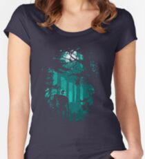 Looking at the stars Women's Fitted Scoop T-Shirt