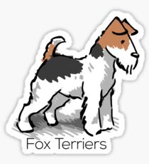 Fox Terriers Sticker