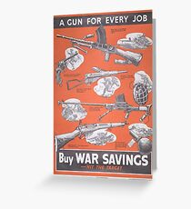 Reprint of British wartime poster. Greeting Card