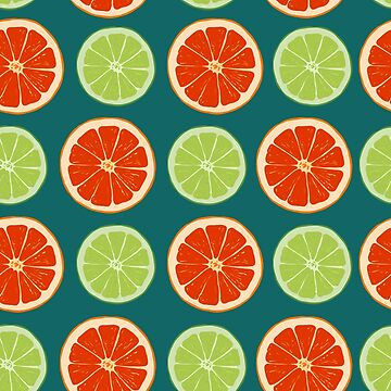 pattern with different slice citruses: grapefruit, lime by kostochka
