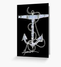 Anchor by tony fernandes Greeting Card