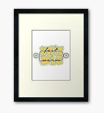 Knit Fast - Die Warm Framed Print