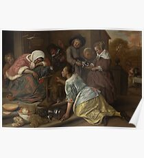 Jan Steen - The Effects Of Intemperance Poster