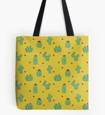 Casual Cacti on Mustard Tote Bag