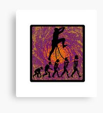 Rock Climbing Evolution Canvas Print
