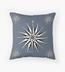 Nautical Compass 12g by tony fernandes Throw Pillow
