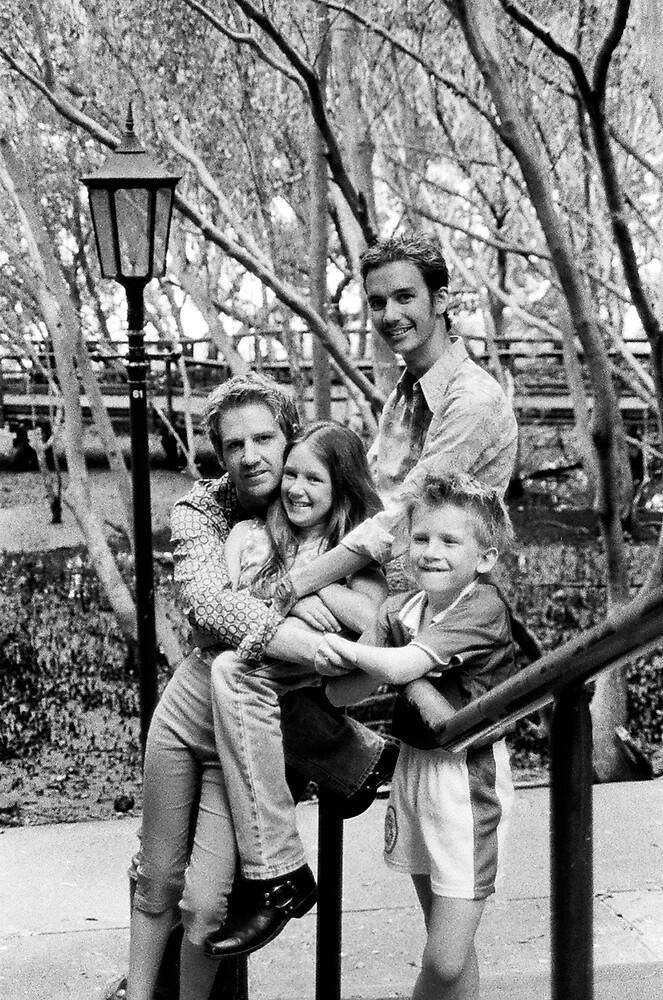 Ashlum, Cole, Ashton & Taymon at the Botanical Gardens Brisbane by John Hansen