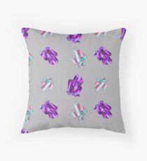 Pattern with minerals.  Throw Pillow